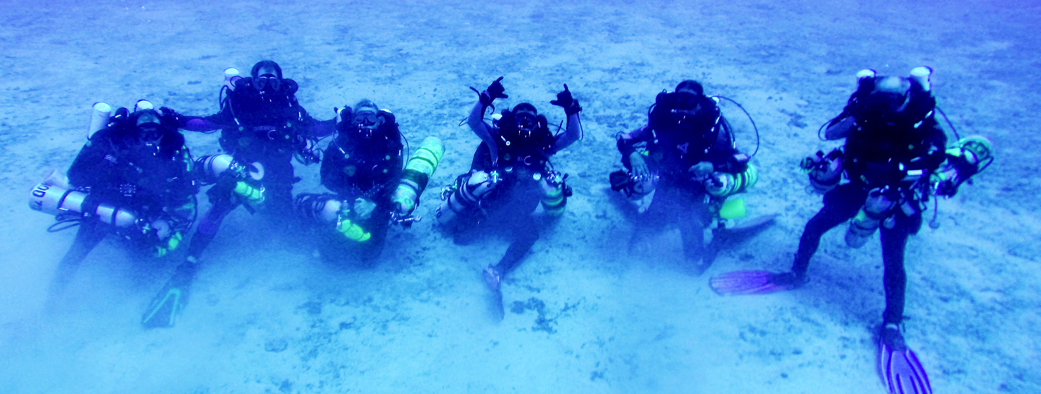 PMNM divers during rebreather training, 2013