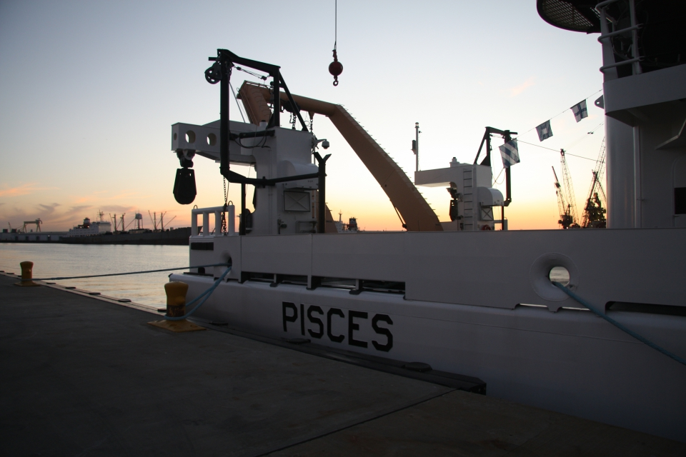 NOAA Ship Pisces alongside the dock in Pascagoula, MS at